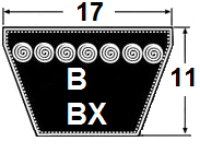 B / BX 17x11mm klassinen